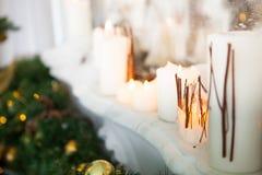 Stanza interna decorata nello stile di Natale Nessuna gente Un vuoto Fotografia Stock Libera da Diritti