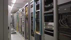 Stanza interna del server delle Telecomunicazioni, panorama archivi video