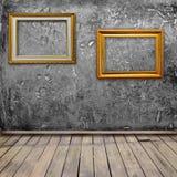 Stanza interna di Grunge con il blocco per grafici della foto Fotografie Stock