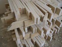 Stanza interna senza qualsiasi materiale da costruzione applicato Fotografia Stock