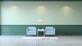 Stanza minimalista Fotografie Stock Libere da Diritti