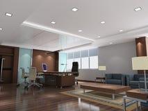 stanza moderna dell'ufficio 3d Immagine Stock Libera da Diritti