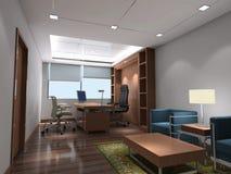 stanza moderna dell'ufficio 3d Immagini Stock Libere da Diritti