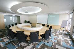 stanza moderna di riunione interna Immagine Stock