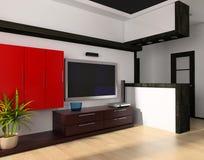 stanza moderna dissipante illustrazione di stock