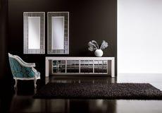 stanza moderna vivente Fotografia Stock