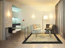 stanza moderna vivente Fotografie Stock
