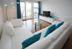 stanza moderna vivente dell'interiore Fotografie Stock