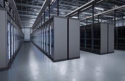 Stanza o computer server del server Immagini Stock Libere da Diritti