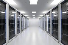 Stanza o computer server del server Immagini Stock