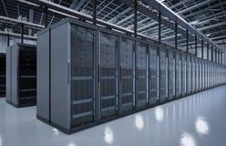 Stanza o computer server del server Immagine Stock Libera da Diritti