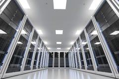 Stanza o computer server del server Fotografia Stock
