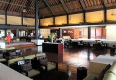 Stanza principale splendida in atrio della località di soggiorno di Westin e della stazione termale, isola di Denarau, Figi, 2015 Immagini Stock Libere da Diritti