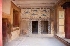 Stanza reale a Knossos fotografie stock