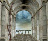 Stanza romantica del castello royalty illustrazione gratis