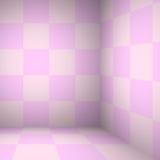 Stanza rosa della tavola - per esposizione i vostri prodotti Fotografie Stock Libere da Diritti