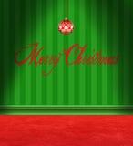 Stanza rossa e verde della cartolina di Natale royalty illustrazione gratis