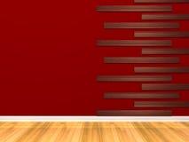 Stanza rossa vuota Fotografia Stock Libera da Diritti