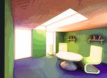stanza surreale dell'impressionista Immagini Stock Libere da Diritti