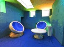 stanza surreale dell'impressionista Fotografia Stock