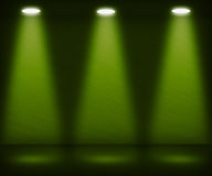 Stanza verde del riflettore illustrazione di stock