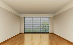 Sala da pranzo con le pareti arancioni immagine stock for Stanza da pranzo moderna