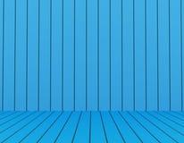 Stanza vuota con colore blu rappresentazione 3d Immagine Stock Libera da Diritti