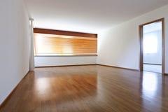 Stanza vuota con il pavimento di legno Immagini Stock Libere da Diritti