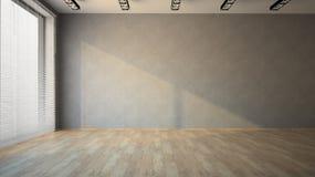 Stanza vuota con il pavimento di parchè Fotografia Stock