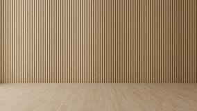 Stanza vuota con la parete di legno fotografia stock libera da diritti