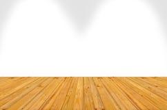 Stanza vuota con la parete ed il pavimento di legno, un'immagine di un di legno piacevole Illustrazione di Stock