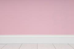 Stanza vuota con la parete rosa fotografie stock libere da diritti