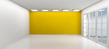 Stanza vuota con le finestre Fotografia Stock Libera da Diritti