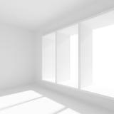 Stanza vuota con le finestre Immagini Stock Libere da Diritti