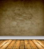 Stanza vuota del Brown con i pavimenti nudi Fotografia Stock