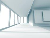Stanza vuota moderna con la grande finestra Fotografie Stock Libere da Diritti