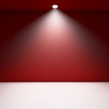 Stanza vuota rossa. Immagine Stock