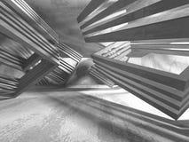 Stanza vuota scura Pareti arrugginite concrete Priorità bassa di architettura Immagine Stock Libera da Diritti