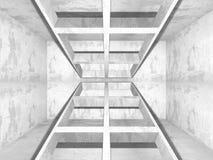 Stanza vuota scura Pareti arrugginite concrete Priorità bassa di architettura Immagini Stock Libere da Diritti