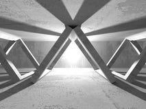 Stanza vuota scura Pareti arrugginite concrete Priorità bassa di architettura Immagine Stock