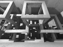 Stanza vuota scura Pareti arrugginite concrete Priorità bassa di architettura Fotografia Stock