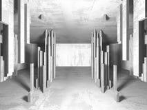 Stanza vuota scura Pareti arrugginite concrete Priorità bassa di architettura illustrazione di stock