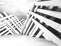 Stanza vuota scura Pareti arrugginite concrete Priorità bassa di architettura illustrazione vettoriale
