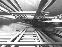Stanza vuota scura Pareti arrugginite concrete Priorità bassa di architettura royalty illustrazione gratis