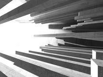 Stanza vuota scura Pareti arrugginite concrete Priorità bassa di architettura Fotografie Stock