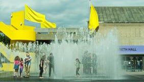 Stanze comparenti, scultura dell'acqua, la Banca del sud. Immagini Stock