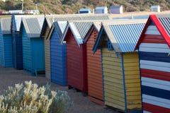 Stanze del cambiamento della spiaggia Immagini Stock Libere da Diritti