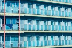 Stanze del primo piano sui grattacieli a Tokyo, Giappone immagine stock