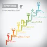 Stap aan succesinfographics Stock Foto