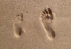 Stap op het zand Stock Afbeeldingen